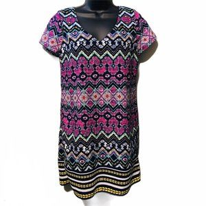 Red Camel Multi Color Dress Small